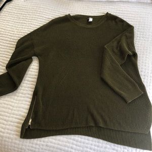Oversized Army Green Sweater